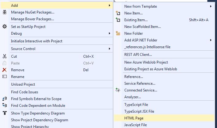 Add html page