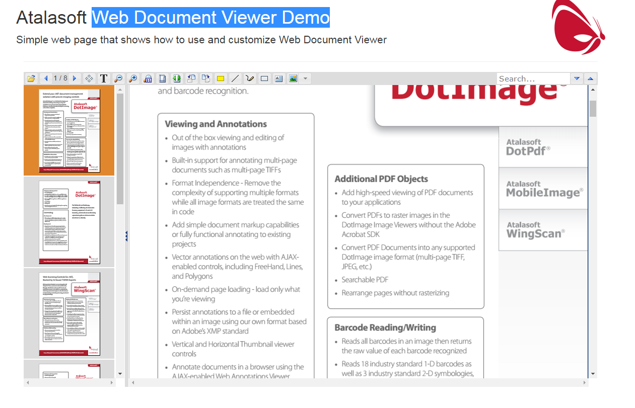 Tutorial: Getting Started with Web Document Viewer - Documentation